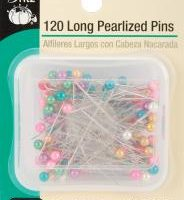 Dritz Long Pearlized Pins-Size 24 120/Pkg-0